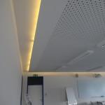 LED Beleuchtung mit abgehängter Akustikdecke